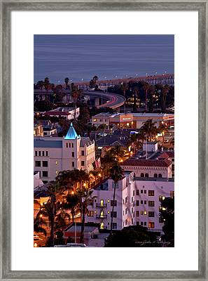 California Street At Ventura California Framed Print