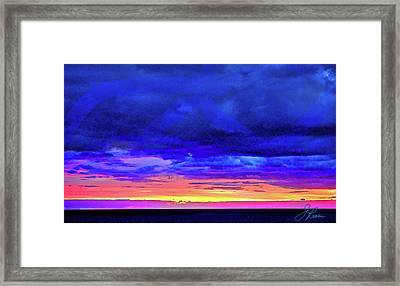 Framed Print featuring the painting California Sunrise by Joan Reese
