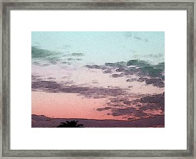 California Sunset - 1 Framed Print by Sally Stevens