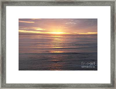 Framed Print featuring the photograph California Sunset by Carol  Bradley
