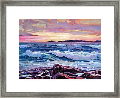 California Sunset Framed Print by David Lloyd Glover