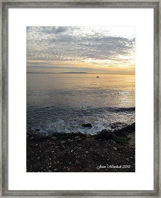 Framed Print featuring the photograph California Sunset by Joan  Minchak