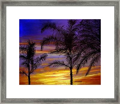 California Sunset Framed Print by Olga Kaczmar