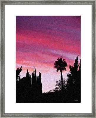 California Sunset Painting 2 Framed Print by Teresa Mucha
