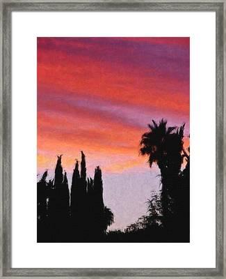 California Sunset Painting 3 Framed Print by Teresa Mucha
