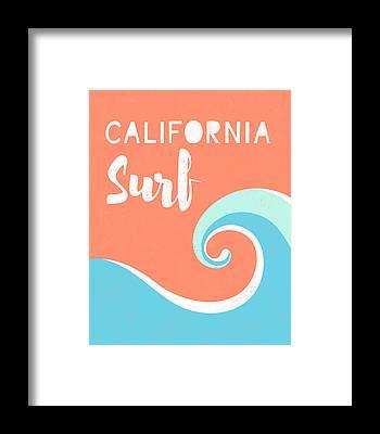 Huntington Beach California Framed Prints