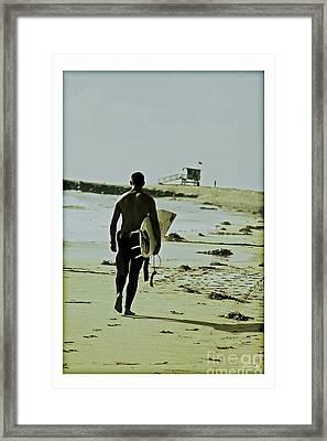 California Surfer Framed Print by Scott Pellegrin