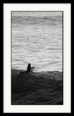 Short Boarding Framed Prints