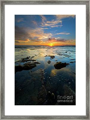 California Tidepool Sunset Framed Print