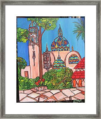 California Towers-balboa Park-san Diego Framed Print by Michelle Gonzalez