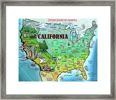 California Usa Framed Print
