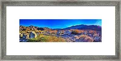 California Wilderness Panorama Framed Print by Kasia Bitner