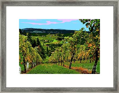 California Wine Country Framed Print by Thomas Pollart