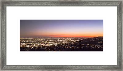 Californian Sunset Framed Print