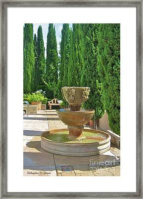 Californian Tuscan Villa Framed Print by Italian Art