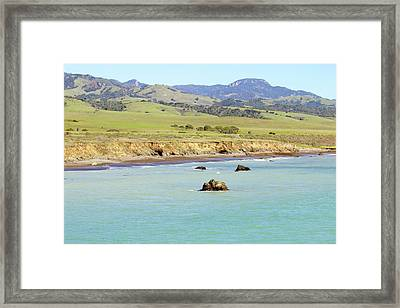 Framed Print featuring the photograph California's Central Coast by Art Block Collections