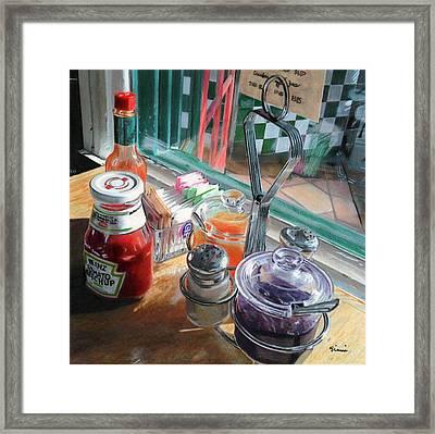 Calistoga Diner Framed Print