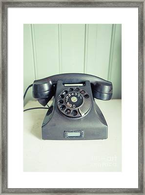 Call Me Old Telephone Framed Print
