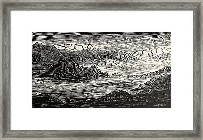 Call Of The Desert Framed Print by Maria Arango Diener