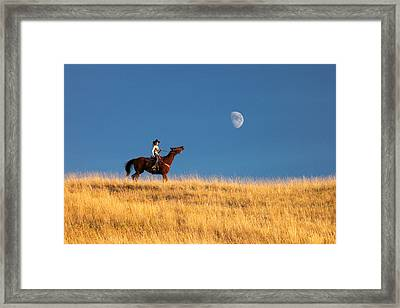 Call Of The Moon Framed Print by Todd Klassy