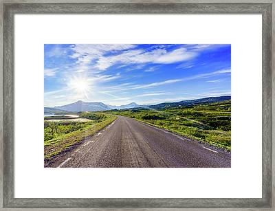 Framed Print featuring the photograph Call Of The Road by Dmytro Korol