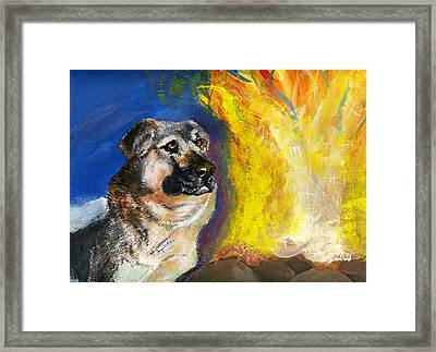 Call Of The Wild Illustration Color Framed Print by Jessica Kale