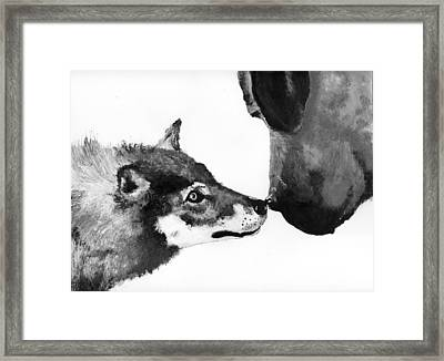 Call Of The Wild Illustration Framed Print by Jessica Kale