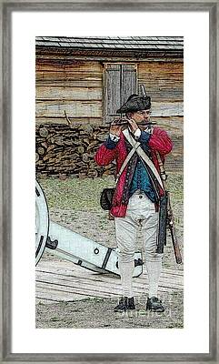 Call To Arms Framed Print by Diane E Berry