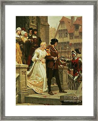 Call To Arms Framed Print by Edmund Blair Leighton