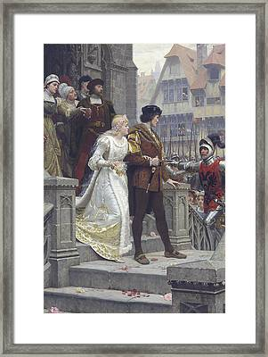 Call To Arms Framed Print by Edmund Leighton