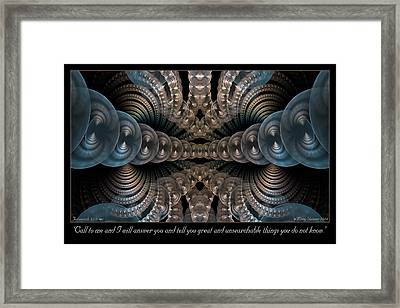 Call To Me Framed Print by Missy Gainer