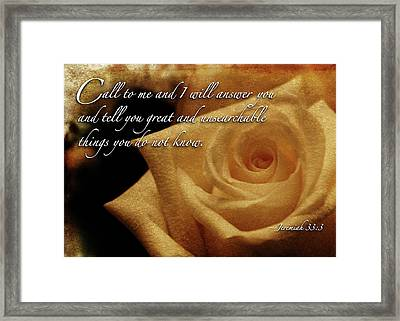 Call To Me Framed Print