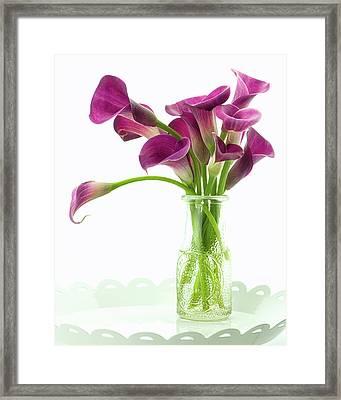 Calla Bouquet Framed Print