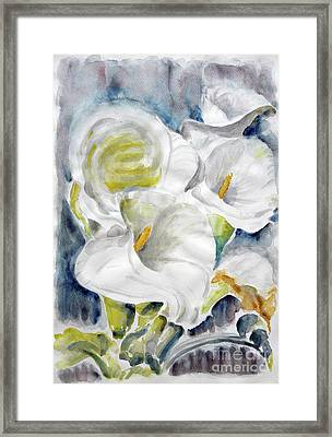 Framed Print featuring the painting Calla by Jasna Dragun