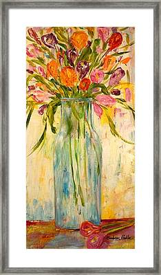 Calla Lilies Framed Print by Barbara Pirkle