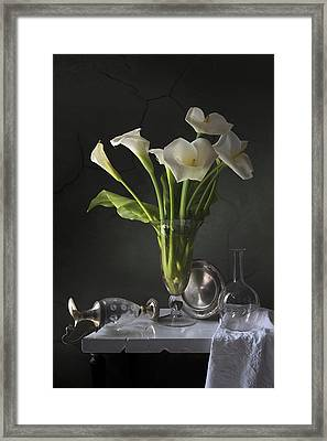Calla Lilies Framed Print by Giovanni Allievi