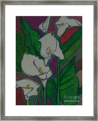 Calla Lillies Framed Print by Diane montana Jansson