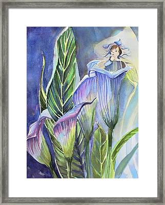 Calla Lily Fairy Framed Print by Mindy Newman