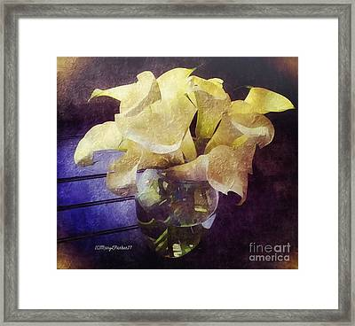 Callalily's For Easter  Copyrightmary Lee Parker 17, Framed Print