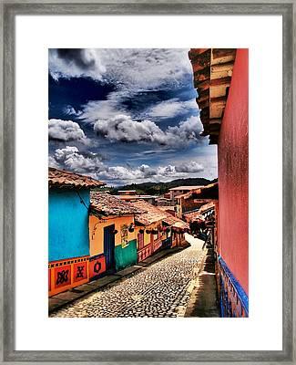 Calle De Colores Framed Print