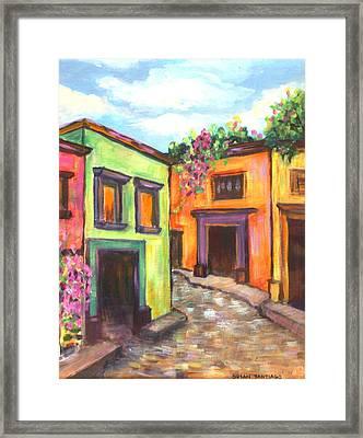 Calle En San Miguel De Allende Framed Print