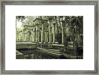 Calle Grande Ruins Framed Print by DigiArt Diaries by Vicky B Fuller