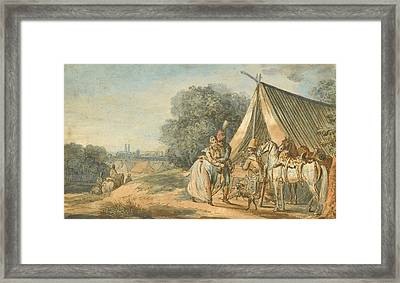 called Watteau of Lille Framed Print by MotionAge Designs
