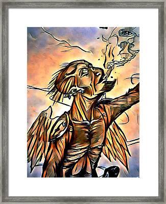 Caller Of Flames Framed Print by Joshua Massenburg