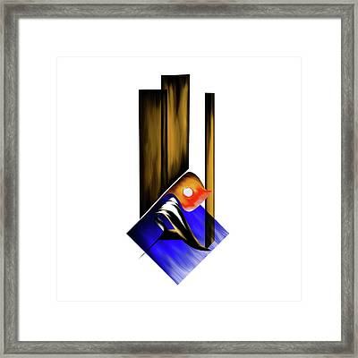 Framed Print featuring the painting Calligraphy 102 1 by Mawra Tahreem