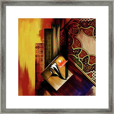 Framed Print featuring the painting Calligraphy 102  2 1 by Mawra Tahreem