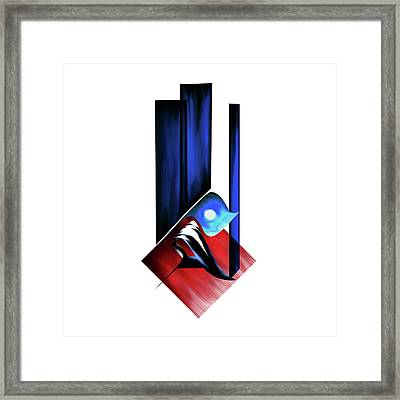 Framed Print featuring the painting Calligraphy 102 2 by Mawra Tahreem