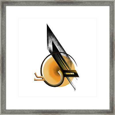 Framed Print featuring the painting Calligraphy 103 1 by Mawra Tahreem