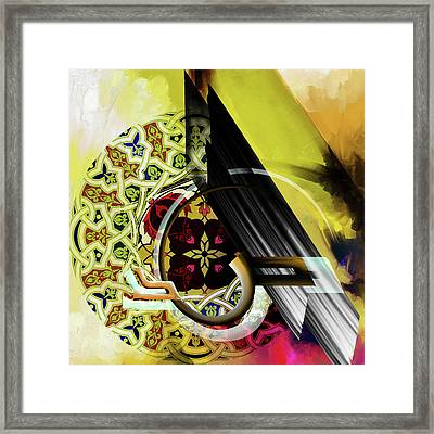 Framed Print featuring the painting Calligraphy 103 2 1 by Mawra Tahreem