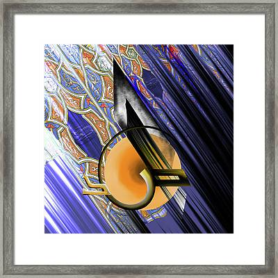 Framed Print featuring the painting Calligraphy 103 3  by Mawra Tahreem